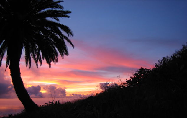 Sonnenaufgang Casa Holger, La Palma